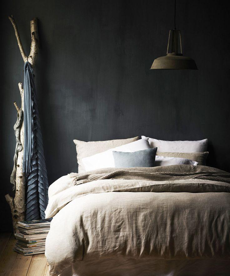 slaapkamers met donkere muur slaapkamers met donkere muur