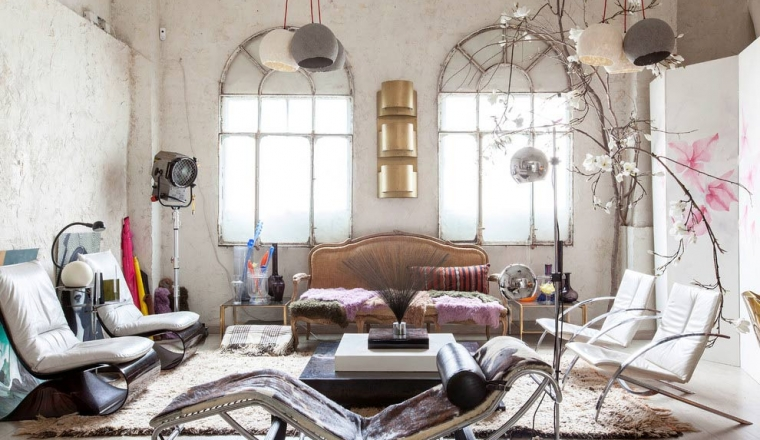 Industriele Loft Woonkamer : Industriële loft in madrid alles om van je huis je thuis te maken