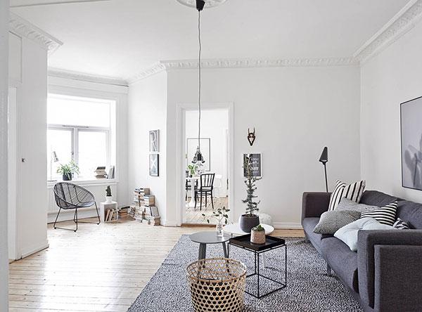 Zweeds appartement grijs zwart wit alles om van je for Grijs wit interieur